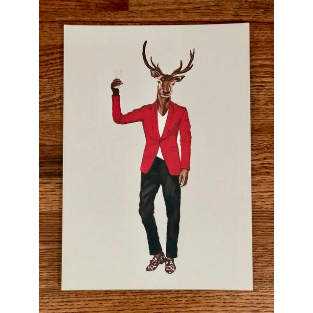 Figurative Tres Chic Signed Animal Portraits For Sale - Image 3 of 8