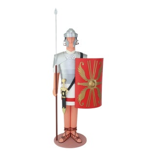 Vintage Michael Collins Paper Sculpture of Roman Soldier For Sale
