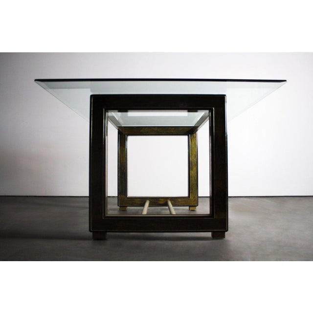 Mid-Century Modern Bernhard Rohne for Mastercraft Acid-Etched Brass Table For Sale - Image 3 of 6