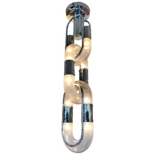 Chain Chandelier by Aldo Nason for Mazzega, Italy, 1970s For Sale
