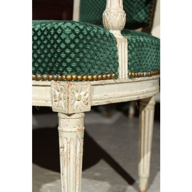 French Louis XVI Style Armchairs - A Pair - Image 4 of 6