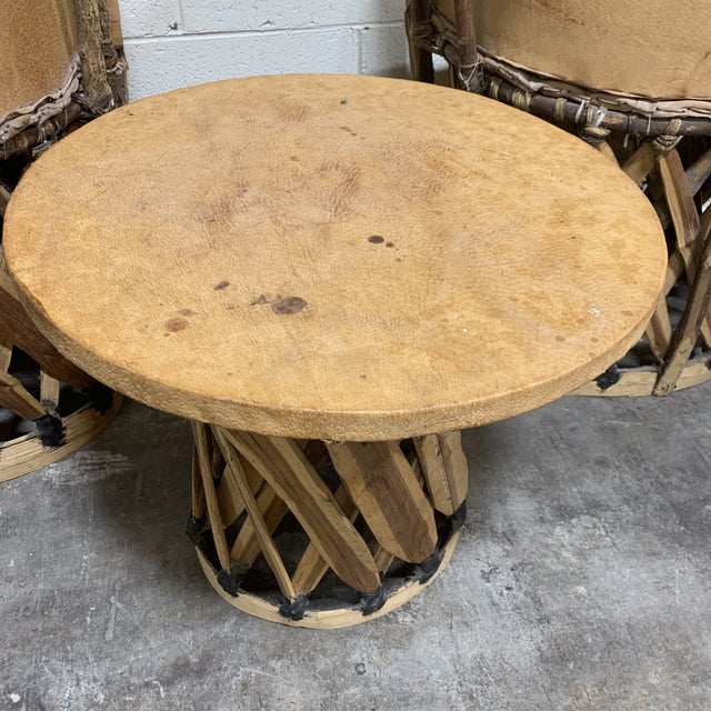 1960s Equipale Chairs and Tabl Set - Set of 3 For Sale In Richmond - Image 6 of 12