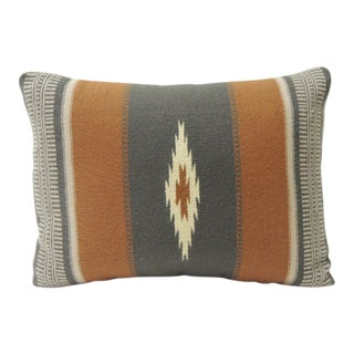 Vintage Gray and Brown Southwestern Style Woven Bolster For Sale