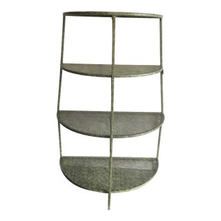 20th Century Traditional Green Metal Shelving Unit For Sale