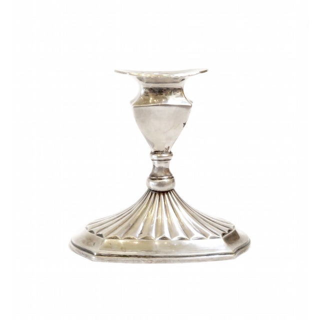 Small Silver Candlestick Holder - Image 1 of 5