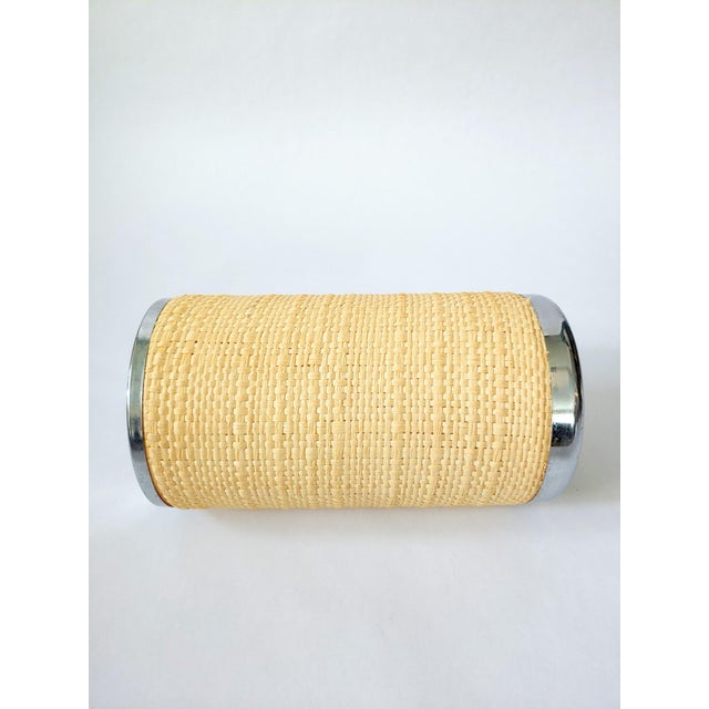A raffia wrapped wine cooler? Très, très chic! Made in Italy by Lindian in the 70s', their golden age of chic products.