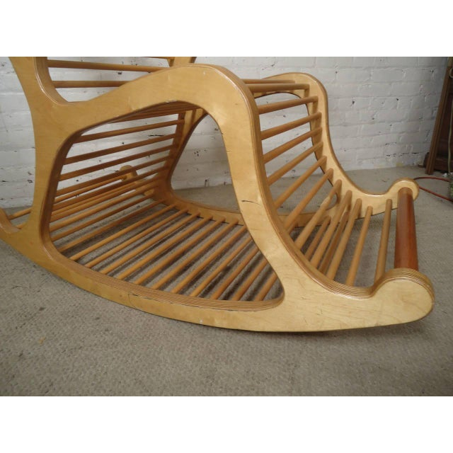 Wood Rocking Chair For Sale In New York - Image 6 of 7