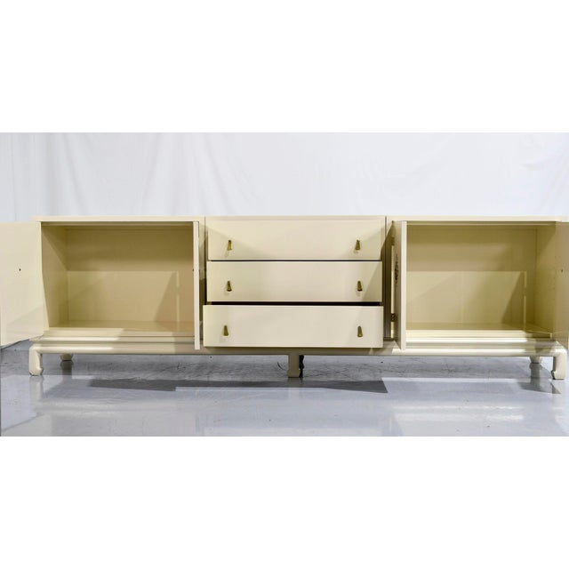 Vintage Chinoiserie Credenza by Mount Airy Furniture - Newly Painted For Sale - Image 10 of 12