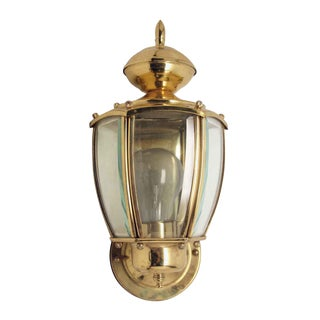Brass Exterior Wall Lantern For Sale