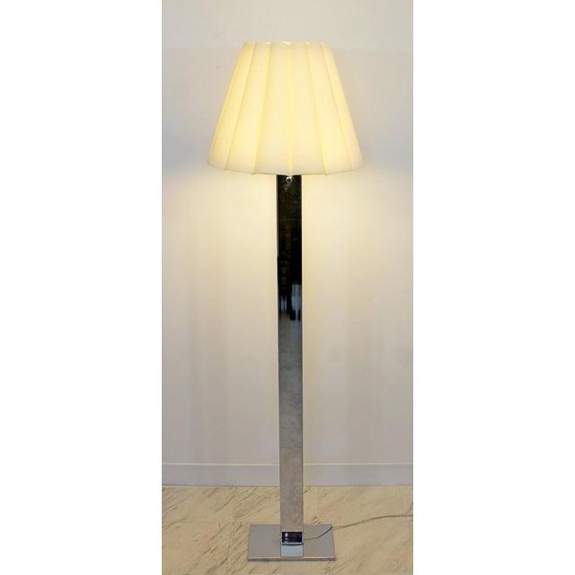 Mid Century Modern Robert Sonneman Polished Chrome Steel Standing Floor Lamp For Sale - Image 10 of 10