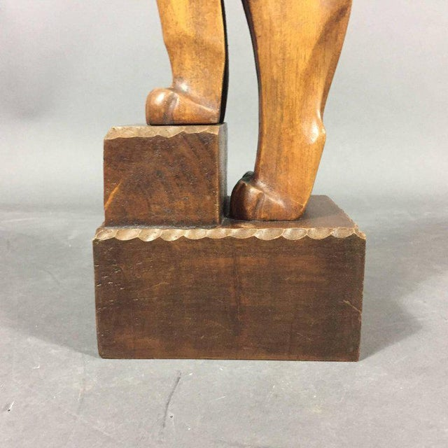 Art Deco 1920s Ukko Talvi Art Deco Wood Sculpture, Finland For Sale - Image 3 of 7