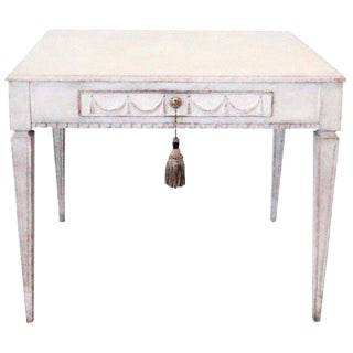 19th Century Swedish White Writing Desk For Sale