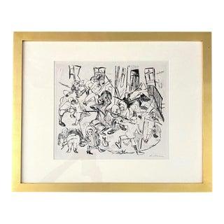"Max Beckmann ""Spielende Kinder"" Etching, 1918 For Sale"