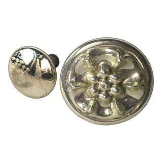 Two Mercury Glass Finials/Knobs For Sale