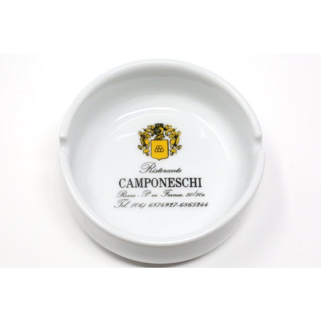 Vintage Ristorante Camponeschi Ceramic Ashtray For Sale - Image 4 of 8