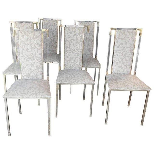 Brass Italian 1960s Set of Six Chairs in Brass and Plexiglass For Sale - Image 7 of 7