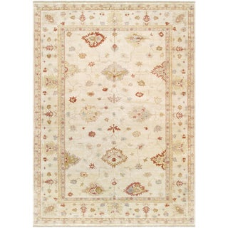 "Pasargad Oushak Lamb's Wool Area Rug - 12' 1"" X 17' 2"" For Sale"