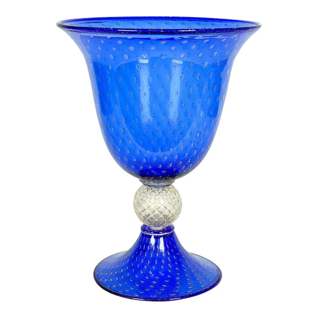 Midcentury Modern Large Scale Cobalt Murano Glass Piece For Sale