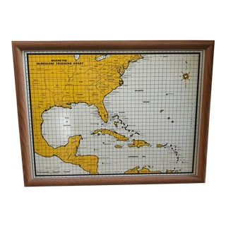 Vintage Magnetic Hurricane Tracker Map For Sale