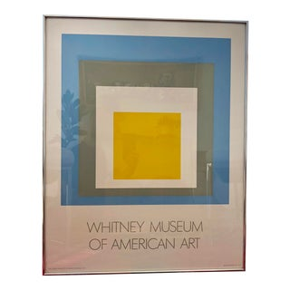 1972 Josef Albers Homage to the Square Whitney Museum of American Art Framed Poster For Sale