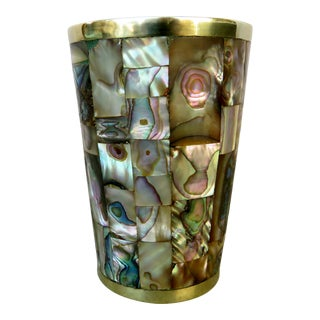 Taxco Brass & Abalone Cup For Sale