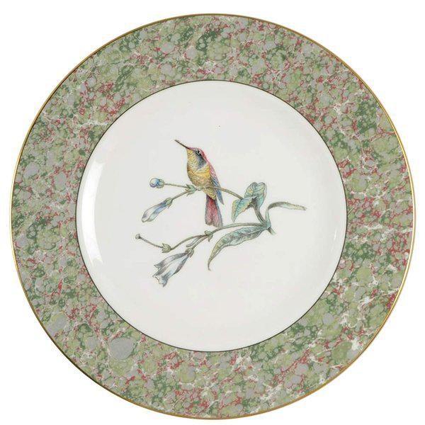 Stone 1990 Humming Birds by Wedgwood Salad/Dessert Plates - Set of 5 For Sale - Image 7 of 7