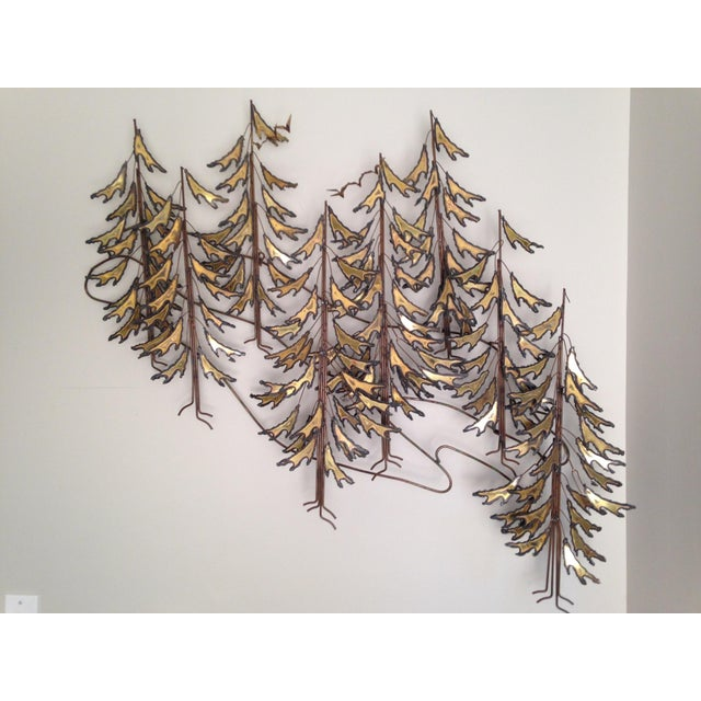 Curtis Jere Signed 1982 Alpine Trees Wall Sculpture - Image 2 of 11