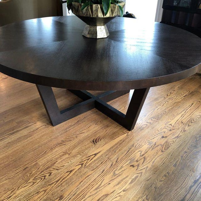 Italian 72 Inch Round Dining Table For Sale In Washington DC - Image 6 of 13
