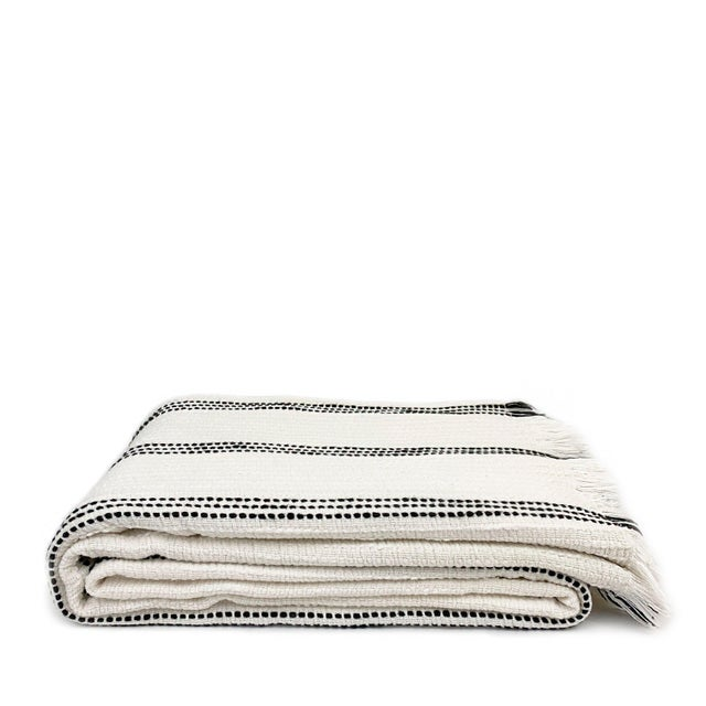 2010s Boho Cotton Throw Blanket For Sale - Image 5 of 5