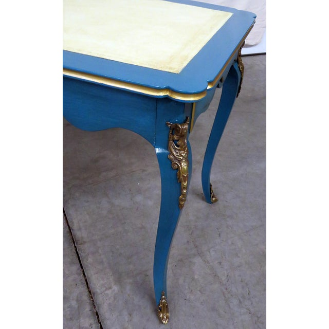 Louis XV Style Leather Top Cartonnier Desk For Sale - Image 4 of 10