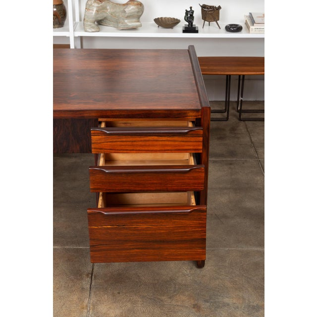 Rosewood Executive Desk For Sale In Los Angeles - Image 6 of 11