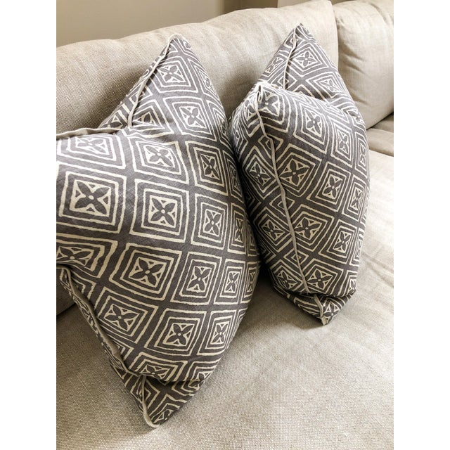 Textile Transitional Quadrille China Seas Designer Made Fiorentina Throw Pillows - a Pair For Sale - Image 7 of 9