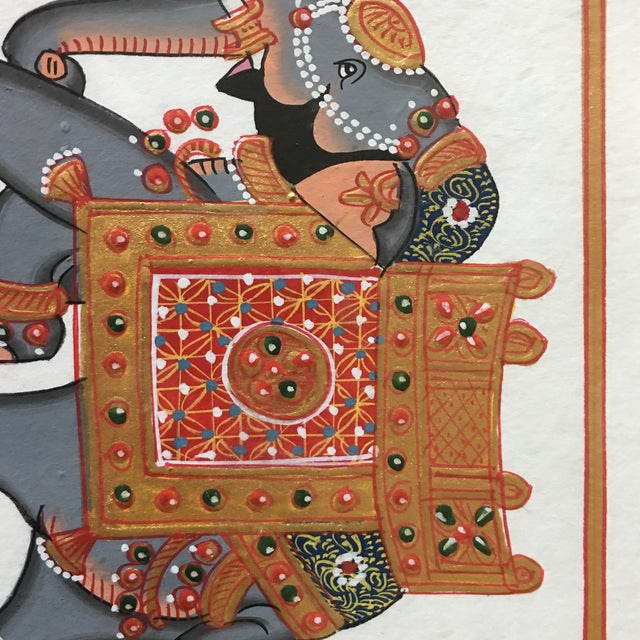 Hand Painted Elephant From Jaipur - Image 4 of 6