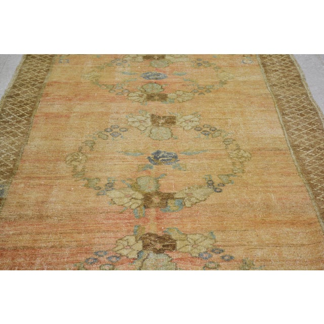 Shabby Chic Vintage Turkish Oushak Hand Knotted Organic Wool Fine Weave Rug,5'x10' For Sale - Image 3 of 6