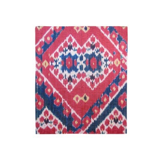 Uzbek Silk Ikat Fragment Fabric For Sale