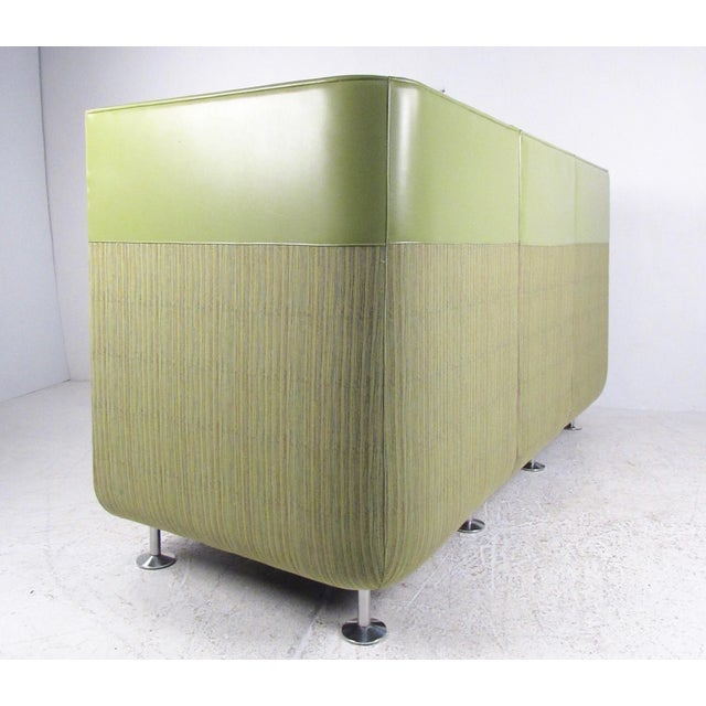 2010s Stylish Modern Booth Style Sofa For Sale - Image 5 of 13