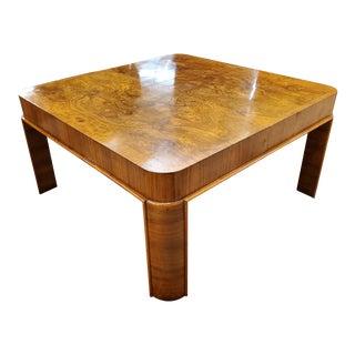 Mid Century Modern Burl Walnut Coffee Table For Sale