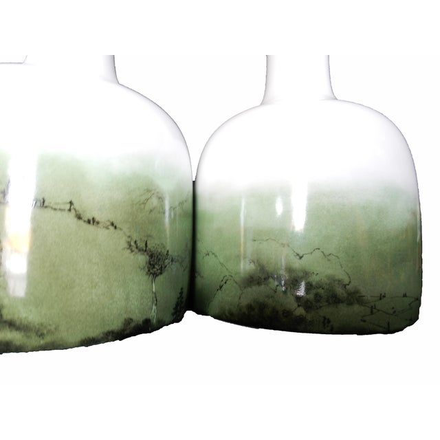 Celadon Chinese Glazed Vases - A Pair - Image 3 of 8