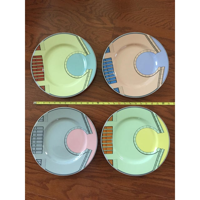 1980s Pastel Modern Chargers - Set of 5 For Sale - Image 13 of 13