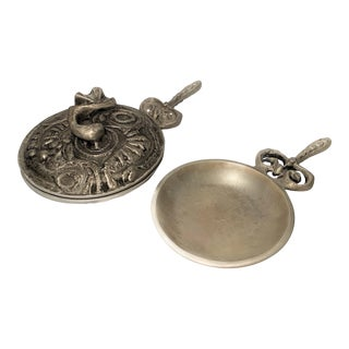 Donald Drumm Alloy Paella Pan With Lid and Sauce Pan— a Pair For Sale