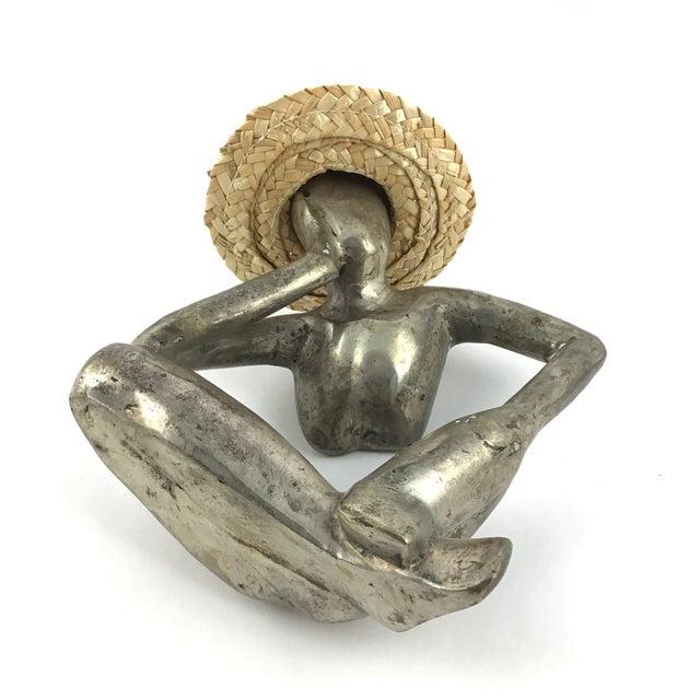 "Metal ""Man in Mid Air"" Modern Metal Artisanal Sculpture For Sale - Image 7 of 12"