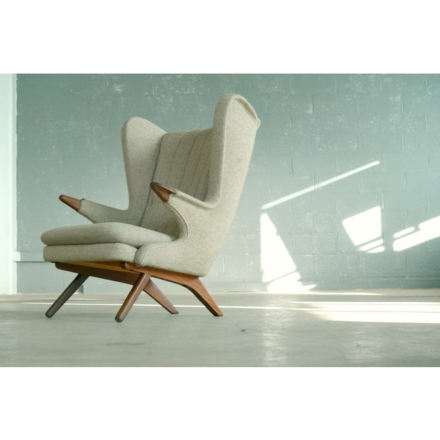 Original Danish high back Papa Bear chair designed in the 1960s by Svend Skipper as model #91 for Skipper Mobler. While...