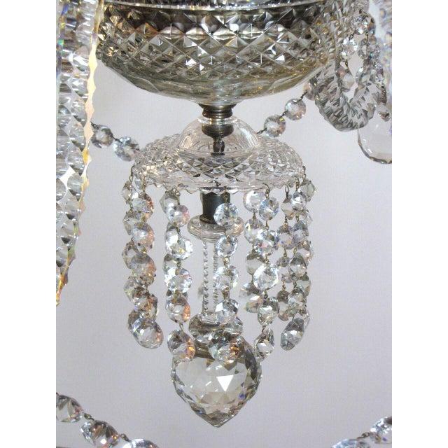Georgian Six Light Large Crystal Chandelier For Sale - Image 3 of 8