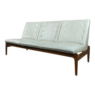 Mid Century Danish Teak & Leather Sofa C.1950s