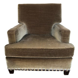 Custom Upholstered Club Chair For Sale