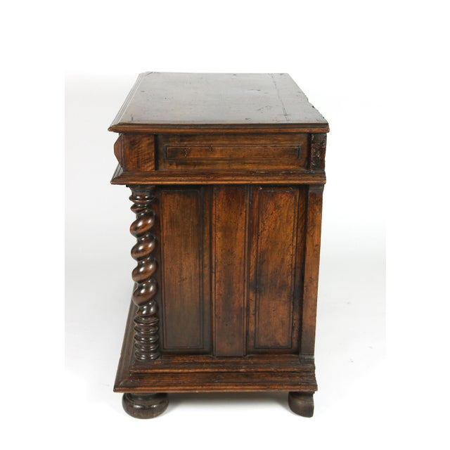 Baroque Late 17th Century French Baroque Period Carved Walnut Buffet For Sale - Image 3 of 5