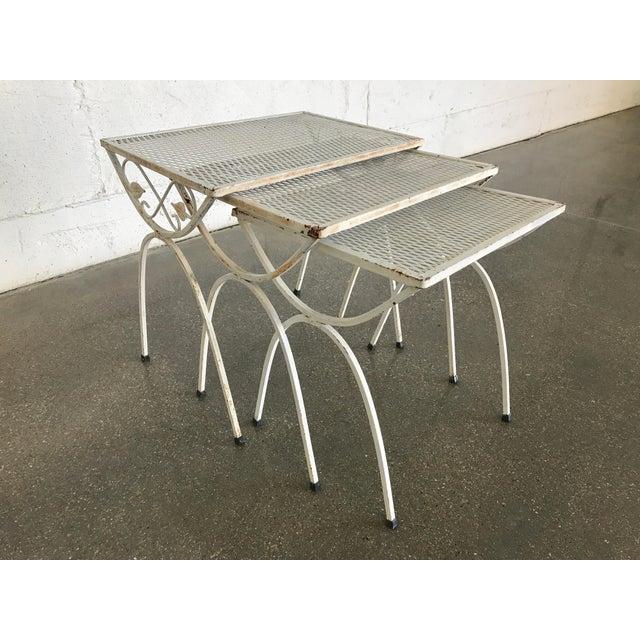 Mid-Century Modern Salterini Iron Nesting Tables - Set of 3 - Image 2 of 9