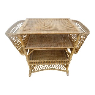 Very Rare Antique Wicker Dry Bar From Heywood Wakefield
