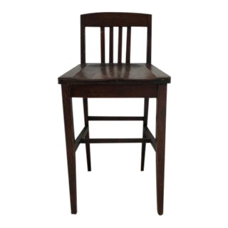 1930s Antique Mission Piano Stool For Sale