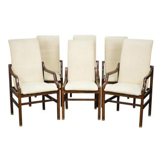 Henredon Mid-Century Modern Style Dining Chairs - Set of 6